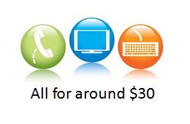 $30 tv internet phone logo