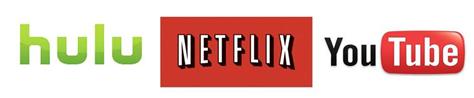youtube hulu netflix logos